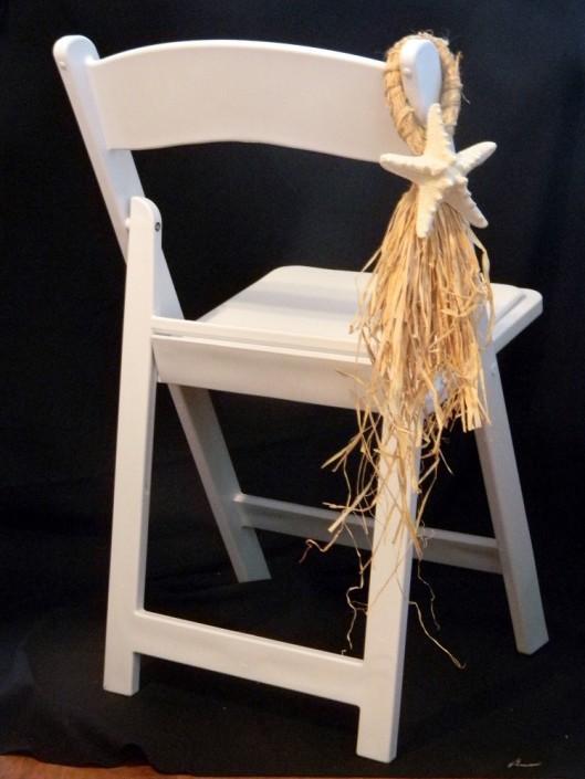 Starfish chair hangar for wedding